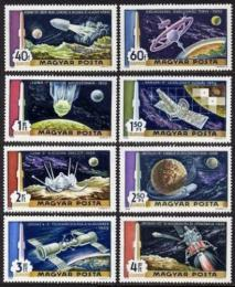 Poštovní známky Maïarsko 1969 Cesta na Mìsíc Mi# 2547-54