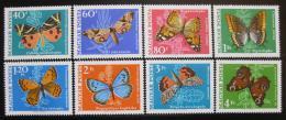 Poštovní známky Maïarsko 1969 Motýli Mi# 2494-2501