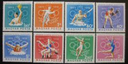 Poštovní známky Maïarsko 1970 Olympijský výbor, 75. výroèí Mi# 2616-23