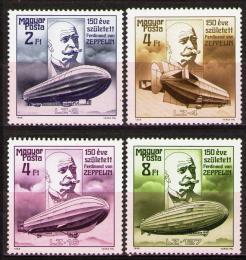 Poštovní známky Maïarsko 1988 Vzducholodì Mi# 3942-45