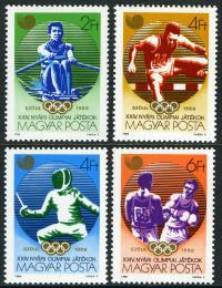 Poštovní známky Maïarsko 1988 LOH Soul Mi# 3959-62