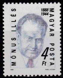 Poštovní známka Maïarsko 1988 Illés Mónus, politik Mi# 3954