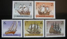 Poštovní známky Maïarsko 1988 Plachetnice Mi# 3966-70
