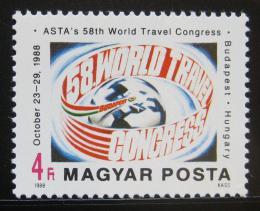 Poštovní známka Maïarsko 1988 Kongres ASTA Mi# 3983