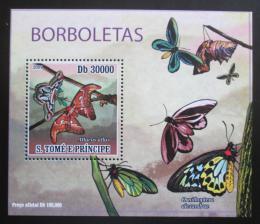 Poštovní známka Svatý Tomáš 2009 Motýli DELUXE Mi# 4110 Block
