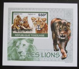 Poštovní známka Togo 2010 Lvi DELUXE neperf. Mi# 3471 B Block