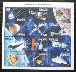 Poštovní známky Gabon 1999 První let na Mìsíc, 30. výroèí Mi# 1446-57