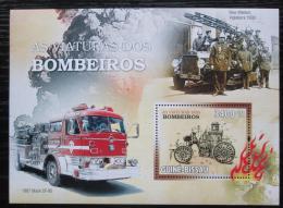 Poštovní známka Guinea-Bissau 2010 Hasièská auta Mi# Block 788 Kat 14€