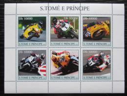 Poštovní známky Svatý Tomáš 2003 Závodní motocykly Mi# 2253-58 Kat 11€