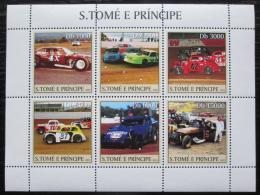 Poštovní známky Svatý Tomáš 2003 Závodní auta Mi# 2247-52 Kat 11€