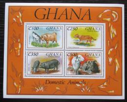Poštovní známky Ghana 1993 Domácí zvíøata Mi# Block 238 Kat 9.50€