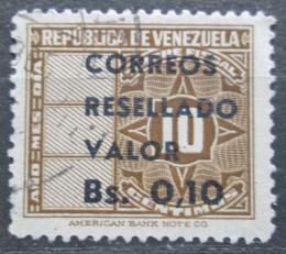 Poštovní známka Venezuela 1965 Nominál pøetisk Mi# 1613