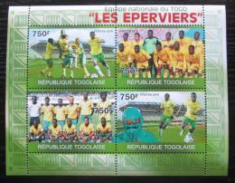 Poštovní známky Togo 2010 Národní fotbalový team Mi# 3569-72 Kat 12€