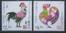 Poštovní známky Penrhyn 2016 Èínský nový rok, rok kohouta Mi# 801-02 Kat 12€