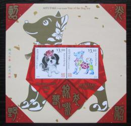 Poštovní známky Aitutaki 2017 Èínský nový rok, rok psa Mi# Block 112 Kat 13€