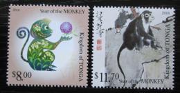 Poštovní známky Tonga 2015 Èínský nový rok, rok opice Mi# 2062-63 Kat 25€