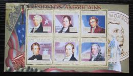 Poštovní známky Guinea 2010 James Monroe, 5. US prezident Mi# 7889-94 Kat 12€