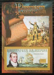 Poštovní známka Guinea 2010 James Monroe, 5. US prezident Mi# Block 1879 Kat 10€