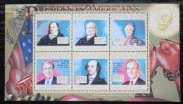 Poštovní známky Guinea 2010 John Adams, 2. US prezident Mi# 7871-76 Kat 12€