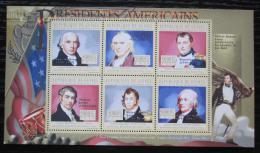 Poštovní známky Guinea 2010 James Madison, 4. US prezident Mi# 7883-86 Kat 12€