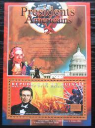 Poštovní známka Guinea 2010 Abraham Lincoln, 16. US prezident Mi# Bl 1898 Kat 10€