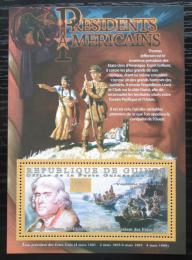 Poštovní známka Guinea 2010 T. Jefferson, 3. US prezident Mi# Block 1877 Kat 10€