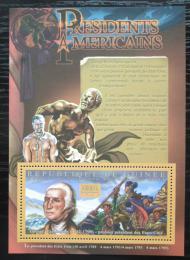 Poštovní známka Guinea 2010 G. Washington, 1. US prezident Mi# Bl 1875 Kat 10€
