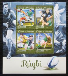 Poštovní známky Svatý Tomáš 2016 Rugby Mi# 6701-04 Kat 12€