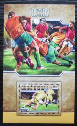 Poštovní známka Guinea-Bissau 2016 Rugby Mi# Block 1516 Kat 12.50€