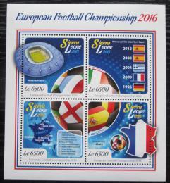Poštovní známky Sierra Leone 2015 ME ve fotbale Mi# 6198-6201 Kat 12€