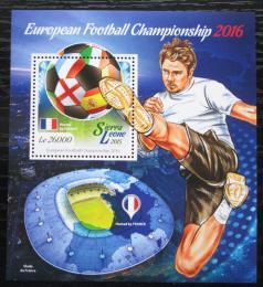Poštovní známka Sierra Leone 2015 ME ve fotbale Mi# Block 774 Kat 12€