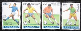 Poštovní známky Tanzánie 1990 MS ve fotbale Mi# 664-67 Kat 10€