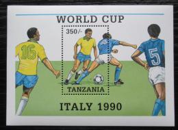 Poštovní známka Tanzánie 1990 MS ve fotbale Mi# Block 114
