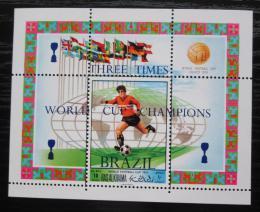 Poštovní známka Rás al-Chajma 1970 MS ve fotbale pøetisk Mi# Block 94 A Kat 7€