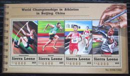 Poštovní známky Sierra Leone 2015 MS v lehké atletice Mi# 6677-80 Kat 11€