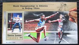Poštovní známka Sierra Leone 2015 MS v lehké atletice Mi# Block 868 Kat 11€