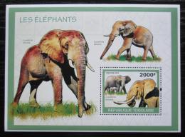 Poštovní známka Togo 2010 Sloni Mi# Block 506 Kat 8€