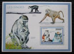 Poštovní známka Togo 2010 Opice Mi# Block 508 Kat 8€