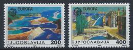 Poštovní známky Jugoslávie 1987 Evropa CEPT, moderní architektura Mi# 2219-20