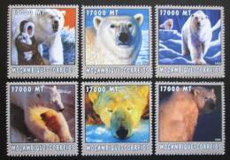 Poštovní známky Mosambik 2002 Lední medvìdi Mi# 2698-2703 Kat 12€