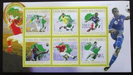 Poštovní známky Komory 2010 MS ve fotbale Mi# 2845-50 Kat 10€