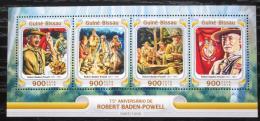 Poštovní známky Guinea-Bissau 2016 Skauti, R. Baden-Powell Mi# 8514-17 Kat 13.50€