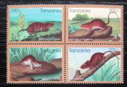 Poštovní známky Tanzánie 1996 Èínský nový rok, rok krysy Mi# 2348-51