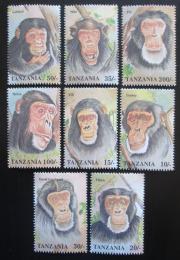 Poštovní známky Tanzánie 1992 Šimpanzi Mi# 1233-40 Kat 18€