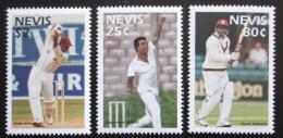 Poštovní známky Nevis 1997 Hráèi kriketu Mi# 1087-89
