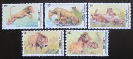 Poštovní známky Kongo Dem. 2002 Lvi Mi# 1703-07 Kat 12€