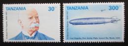 Poštovní známky Tanzánie 1992 Graf Zeppelin Mi# 1423-24