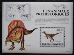 Poštovní známka Komory 2009 Dinosauøi Mi# Block 482 Kat 15€