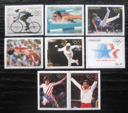 Poštovní známky Paraguay 1985 LOH Los Angeles s kupónem Mi# 3824-30