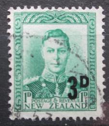 Poštovní známka Nový Zéland 1952 Král Jiøí VI. pøetisk Mi# 321
